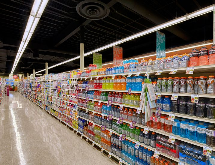 CS Suspended Ambient Grocery Aisle Application