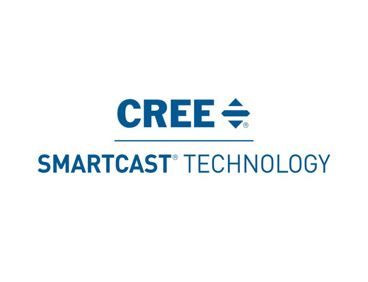 Cree SmartCast Stacked Technology Logo in Blue