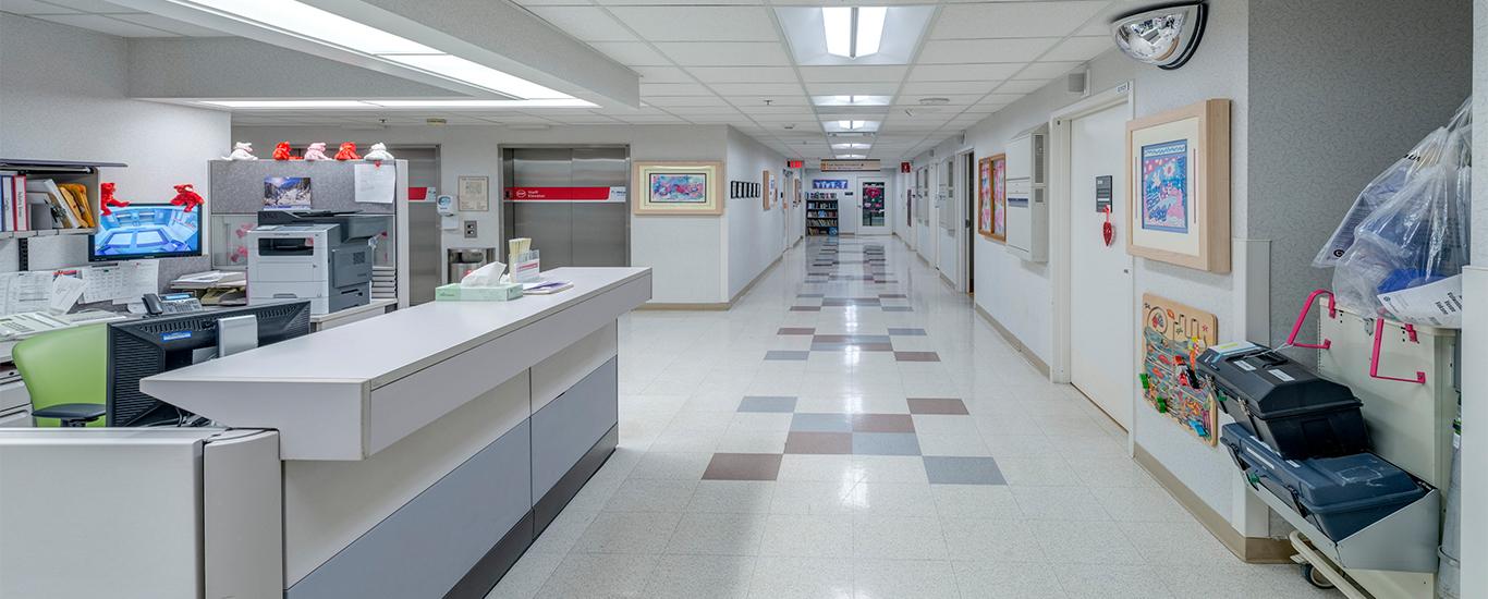 Hospital Hallway Application of CR Troffers