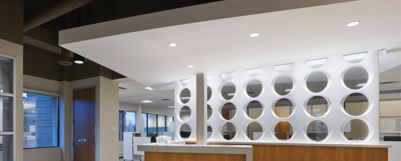 Cree Lighting Canada Office Lobby featuring Downlights